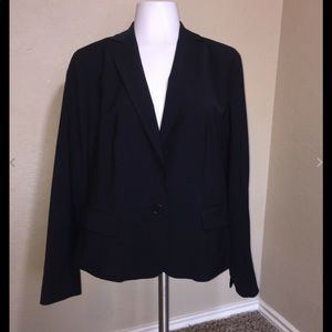 Talbots Navy Blue One Button Blazer Size 10